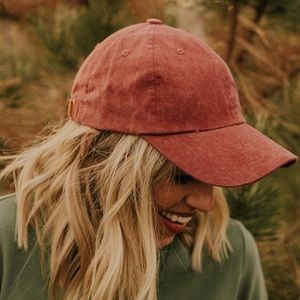 faded wash Women's baseball hat